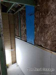 Wall insulation installed